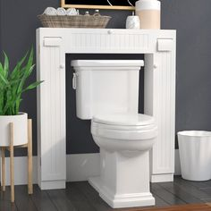 Purchase Online Eleanor Free Standing 34 W x H Over the Toilet Storage By The Twillery Co. Toilet Shelves, Bathroom Shelves Over Toilet, Small Bathroom Storage, Laundry Room Storage, Wood Bathroom, Bathroom Furniture, Bathroom Ideas, Toilet Closet, Over Toilet Storage