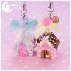 Candy house Charm (chocolate and strawberry) by CuteMoonbunny.deviantart.com on @deviantART