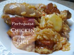 Portuguese chicken and rice  This is a mainstay Portuguese meal that is inexpensive, easy to make and full of flavor. Great for a weeknight meal but perfect for Sunday supper all at the same time! It's the Portuguese One-pot meal that has it all!