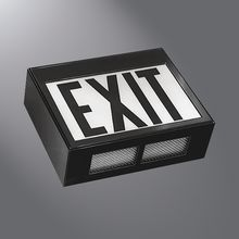 Fail-Safe EXL Exit Sign for area of high-abuse and withstands tough environments. Good for public access areas where safety and security are critical.