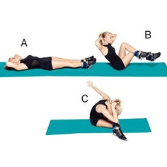 Tracy Anderson has whipped and whittled many a middle, and & now it's your turn! Here are her top exercises for a strong core. | Health.com