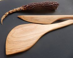 Wooden spatulas. Beetch tree (Fargus) wood set of cooking spatula and cheese knife. Gift for chef. Gift for friends
