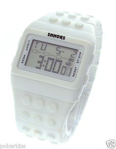 Shhors Unisex Block Constructor Retro Digital Fasion LED watch Personalise color | eBay $17.11 incl postage