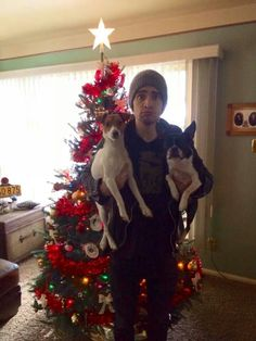 Christmas at his parents house yay