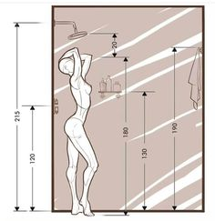 Bathroom Layout Plans, Small Bathroom Layout, Small Bathroom Dimensions, Small Bathroom Plans, Small Shower Room, Ensuite Bathrooms, Bathroom Fixtures, Modern Bathrooms, Master Bathroom