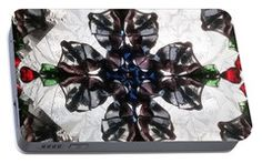 Portable Battery Charger featuring the photograph Kaleidoscope Sq4 by Equad Images