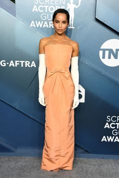 Zoë Kravitz at the 2020 SAG Awards The annual Screen Actors Guild Awards brought haute fashion looks to the red carpet, which included gorgeous gowns, sky-high heels, and so much more. Jennifer Aniston, Jennifer Lopez, Jennifer Garner, Nicole Kidman, Rachel Brosnahan, Dakota Fanning, Georges Hobeika, Armani Prive, Reese Witherspoon