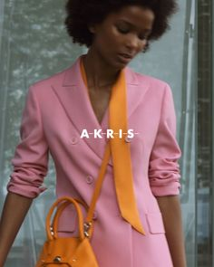 Akris Resort where the art and fashion convene. Here's one of the looks made of vibrant colors and art-inspired pieces. Luxury Living, Luxury Handbags, Runway Fashion, Vibrant Colors, Blazer, Inspired, Jackets, Fashion Design, Inspiration