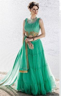 Picture of Alluring Emerald Designer Lehenga Choli
