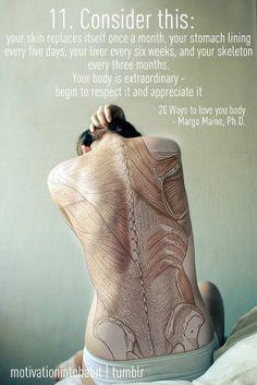 your body has an amazing capability to renew itself