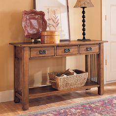 Hammary T01389-00 Canyon Sofa Entry Table at ATG Stores