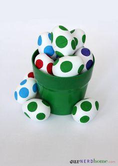 DIY Easter Crafts : DIY Super Mario Yoshi Eggs