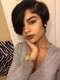"""10"""" Short Wigs For African American Women The Same As The Hairstyle In The Picture - Human Hair Wigs For Black Women"""