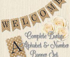 Free Burlap Letters Printable.