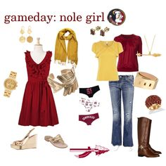 The more recent gameday apparel...I used to wear a sports bra & FSU butt shorts to football games!