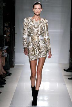 Balmain Spring 2012 Ready-to-Wear Fashion Show - Kasia Struss (Women)