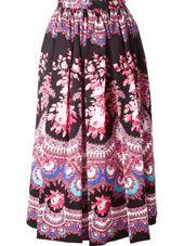 MSGM - floral paisley print skirt #genteroma
