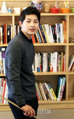 Song Joong Ki. And books. Swoon.