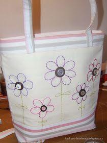 Ježikůže HandMade: Velká jarní taška - návod Horn, Diaper Bag, Handmade, Tote Bags, Scrappy Quilts, Embroidered Bag, Hand Made, Diaper Bags, Tote Bag