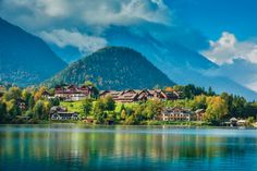 Gasthof Seeblick Grundlsee Hotel In Den Bergen, Holiday Hotel, Hotels And Resorts, Mountains, Water, Travel, Outdoor, Destinations, Vacation