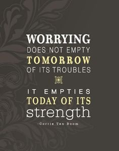 Worry: I need to remember this
