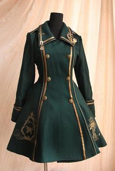 Pin on ロリータファッション Steampunk Clothing, Steampunk Fashion, Victorian Fashion, Steampunk Coat, Steampunk Glasses, Victorian Coat, Moda Lolita, Mode Costume, Cool Outfits