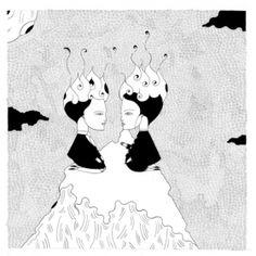 Arts Graphiques | Fred le Chevalier | Au coeur du silence crépitaient nos flammes | Tirage d'art en série limitée sur L'oeil ouvert