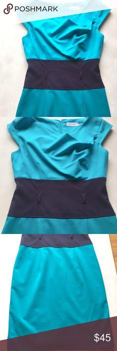 Calvin Klein shades of blue dress size 2 (no belt) Calvin Klein shades of blue dress size 2 (no belt) Calvin Klein Dresses