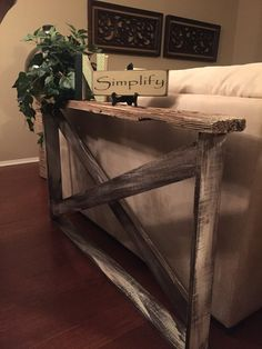 She made this from old barn wood.