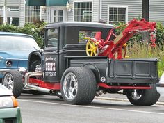 Afternoon Drive: Hot Rods & Rat Rods Photos) A hot rod is a specific type of automobile that has been modified to produce more power for racing straight ahead. The hot rod originated in the early. Hot Rod Trucks, Tow Truck, Lifted Trucks, Cool Trucks, Big Trucks, Chevy Trucks, Pickup Trucks, Cool Cars, Jeep Pickup