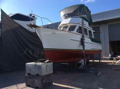My 1978 Halversen Island  Gypsy. Just finishing off the annual anti foul.