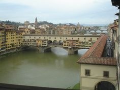 Picture taken from the Window in the Uffizi Gallery, Florence, Italy-Here just a couple of weeks ago. Want to go back!