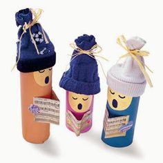 Óvodás Gyerekek: Karácsonyi figurák wc papír gurigából