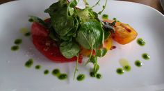 Chef James Montejano of The Trident, Sausalito created a five course menu that paired beautifully with our wines yesterday.  Course Two - Heirloom Tomato, Watermelon, Arugula, Burrata, and Bacon Salad