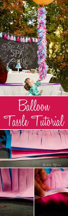 make your own balloon tassels for any party