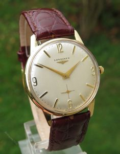 Vintage Watches Collection : Antiques Atlas - Gents Gold Longines Wrist Watch, 1965 - Watches Topia - Watches: Best Lists, Trends & the Latest Styles Stylish Watches, Luxury Watches, Wrist Watches, Longines Watch Men, Amazing Watches, Hand Watch, Vintage Watches For Men, Quartz Watch, Men's Watches