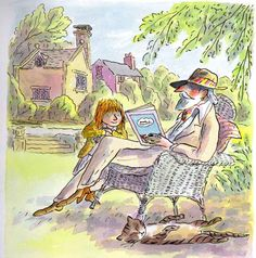 Reading Time by illustrator Tony Ross, of the Horrible Henry and Amber Brown books