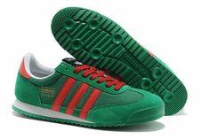 Ladies Adidas Originals Dragon Green Red Sneakers