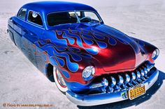 Photo Bonneville by HarleyVillage web mag on Sexy Cars, Hot Cars, Classic Trucks, Classic Cars, Cool Car Drawings, Motorcycle Paint Jobs, Old Hot Rods, Mercury Cars, Rockabilly Cars