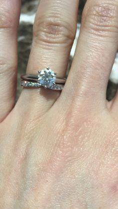 Tiffany's knife edge engagement ring with Tiffany's harmony wedding band! Can't wait to officially wear the band Heart Wedding Rings, Wedding Ring Bands, Gold Manicure, Wedding Arch Rustic, Tiffany Wedding, Ring Shapes, Wedding Nails, Band Rings, Engagement Rings