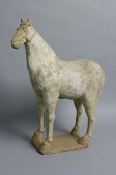 White painted pottery Tang dynasty horse figure, c616-907 AD