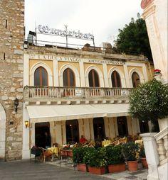 """Taormina - das wohl teuerste Cafe der Stadt """"Cafe Wunderbar"""""""