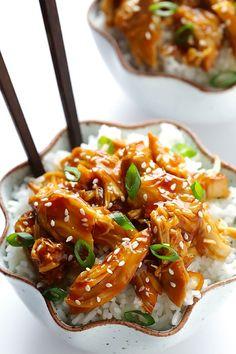 Slow Cooker Teriyaki Chicken | gimmesomeoven.com