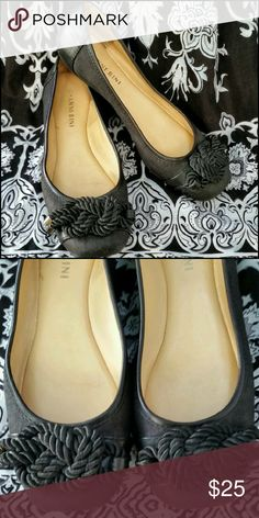 Gianni Bini  Flats Black canvas and leather flats w/ a rope knot on the toe. Great condition. Gianni Bini Shoes Flats & Loafers