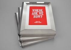 Where are we now? Exhibition at Jarla Partilager. Design by Voice blc