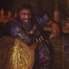 Fire Crown, Warhammer Dwarfs, Skins Characters, Medium Armor, Fantasy Dwarf, Mtg Art, Forgotten Realms, Urban City, Wizards Of The Coast
