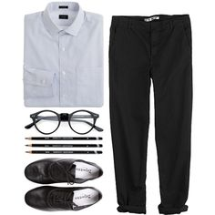 A fashion look from April 2013 featuring GG 750 pants and Repetto oxfords. Browse and shop related looks.