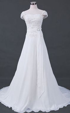 Wedding Dress with Cap Sleeves