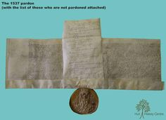 Henry VIII's pardon of the city of Hull for the previous year's Pilgrimage of Grace rebellion. but he noted the names of the non-forgiven too. Of course he did. Creepy History, Haunted History, Strange History, History Facts, Tudor Monarchs, English Monarchs, Tudor Era, Tudor Style, Asian History