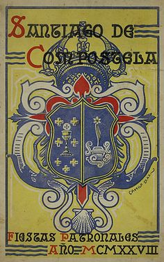 Tipografía Galega - Camilo Díaz Baliño, Cartaz para as Festas tradicionais do Apóstolo en Santiago de Compostela, 1928